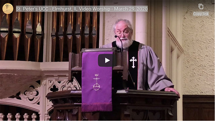Video Worship for Sunday, March 29, 2020